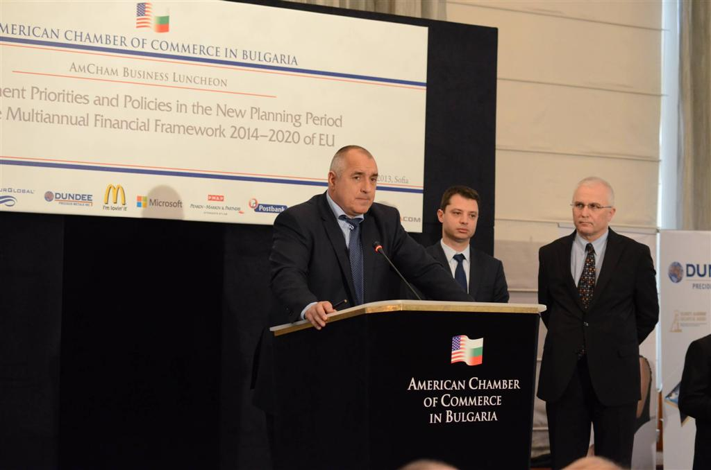 AmCham Business Lunch with the Prime Minister Boyko Borissov